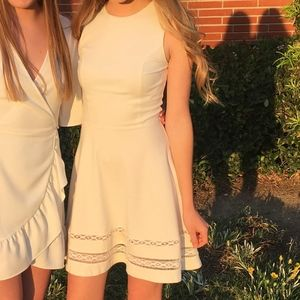 White Fit and Flare Mini Dress
